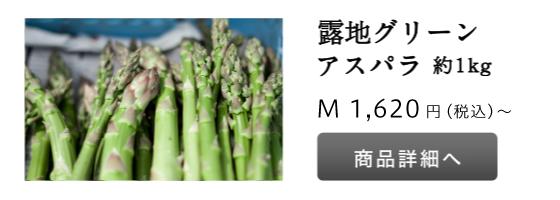 露地グリーンアスパラ 1kg